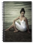 Woman At A Lake Spiral Notebook