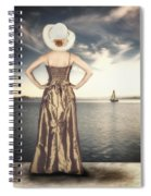 Woman At The Lake Spiral Notebook