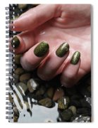 Woman Hand In Water Spiral Notebook