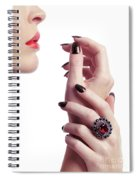 Woman Hands And Lips Spiral Notebook