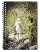 Woman In A Forest Spiral Notebook