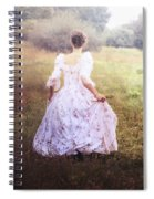 Woman In A Meadow Spiral Notebook