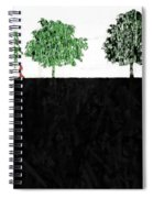 Woman In The Park  Spiral Notebook