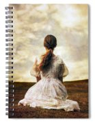 Woman On A Meadow Spiral Notebook