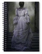 Woman On Steps Spiral Notebook