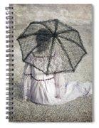 Woman On Street Spiral Notebook