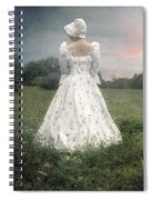 Woman With Bonnet Spiral Notebook