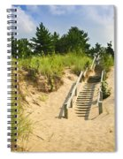 Wooden Stairs Over Dunes At Beach Spiral Notebook