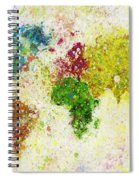 World Map Painting Spiral Notebook