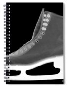 X-ray Of An Ice Skate Spiral Notebook