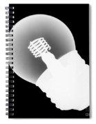 X-ray Of Lightbulb Spiral Notebook
