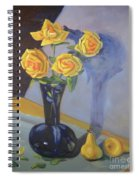 Yellow Roses And Pears Spiral Notebook