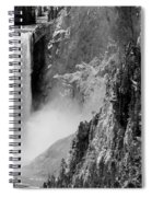 Yellowstone Waterfalls In Black And White Spiral Notebook