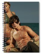 Young Beautiful Couple At The Beach Spiral Notebook