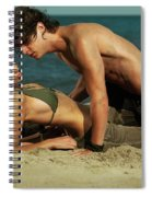 Young Couple On The Beach Spiral Notebook