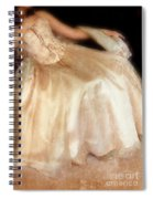 Young Lady Sitting In Satin Gown Spiral Notebook