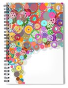 Gears Wheels Design  Spiral Notebook