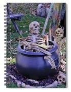 Fall  Halloween On Tillson Street Spiral Notebook