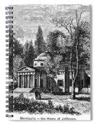Jefferson: Monticello Spiral Notebook