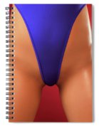 Sexy Young Woman In High Cut Swimsuit Spiral Notebook
