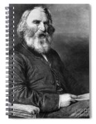 Henry Wadsworth Longfellow Spiral Notebook