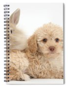 Puppy And Rabbit Spiral Notebook