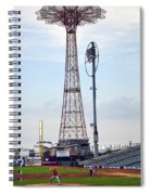 13 Year Old Pitching At Coney Island Cyclones Stadium Spiral Notebook