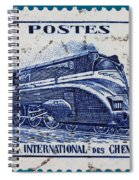 old French postage stamp Spiral Notebook