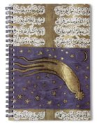 1577 Comet In Turkish Manuscript Spiral Notebook