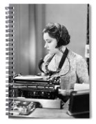 Silent Film Still: Offices Spiral Notebook