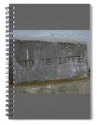 1886 God Is Love Stone Spiral Notebook