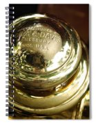 1907 Stanley Steamer - Top View Brass Tail Light Spiral Notebook