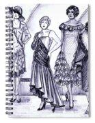 1920s British Fashions Spiral Notebook