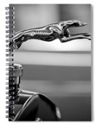 1925 Lincoln Town Car Hood Ornament Spiral Notebook