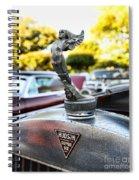 1928 Hudson Super Six Roadster Hood Ornament Spiral Notebook