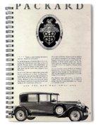 1928 Packard Spiral Notebook