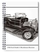 1930 Ford Model A Roadster Spiral Notebook
