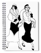 1930s Deco Ladies Spiral Notebook