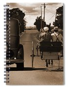 1934 Chevy And Today's Horse And Buggy By Randall Branham Spiral Notebook