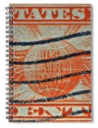 1934 U. S. Air Mail Dull Orange Stamp Spiral Notebook