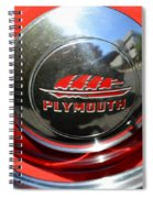 1937 Plymouth Hubcap Spiral Notebook