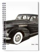 1939 Lasalle Sedan Classic Spiral Notebook