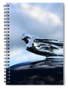 1941 Cadillac Hood Ornament - The Goddess Spiral Notebook