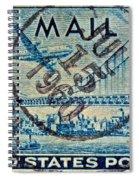 1946 Oakland Bay Bridge Air Mail Stamp Spiral Notebook