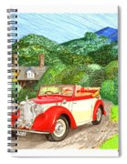 1948 Alvis English Countryside Spiral Notebook