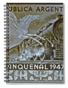 1951 Republica Argentina Stamp Spiral Notebook