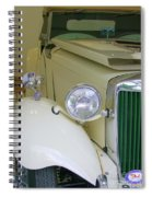1952 Mg Roadster  Side View Spiral Notebook