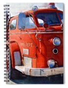 1954 American Lafrance Classic Fire Engine Truck Spiral Notebook