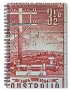 1954 Centenary Of Australian Telegraph Stamp Spiral Notebook