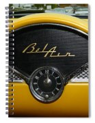 1955 Chevy Belair Clock Spiral Notebook